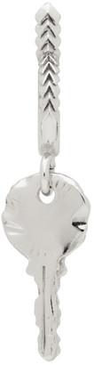 Emanuele Bicocchi Silver Key Hoop Single Earring