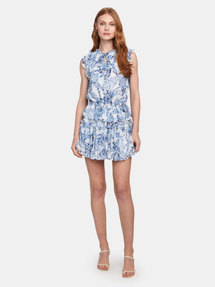 MISA Lillian Ruffle Mini Dress
