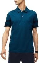 Lacoste Stripe Trim Pique Slim Fit Polo Shirt