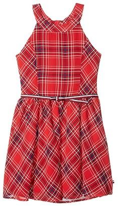 Tommy Hilfiger Sleeveless Plaid Dress (Big Kids) (Plaid Red) Girl's Dress