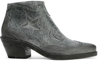 McQ Solstice Distressed Leather Ankle Boots