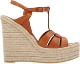 Saint Laurent T-Strap Wedge Sandals