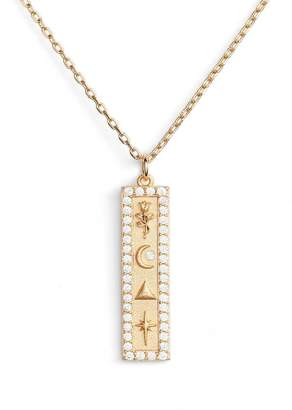 Lulu DK x We Wore What Vertical Bar CZ Pendant Necklace