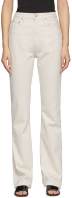 AGOLDE White Vintage High Rise Flare Jeans