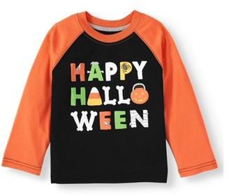 Halloween Long Sleeve Raglan Graphic Tees (Toddler Boys)