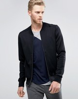 Hugo By Hugo Boss Donso Sweat Bomber Jacket In Black