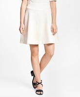 Brooks Brothers Cotton Stretch Jacquard Skirt