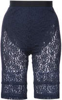 Nina Ricci lace fitted shorts