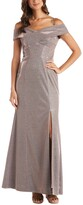 Thumbnail for your product : Nightway Cold-Shoulder Glitter Gown