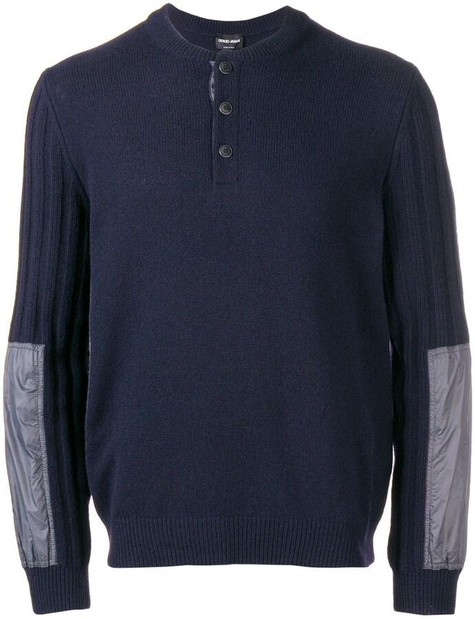 Giorgio Armani ribbed sleeve sweater