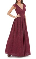 JS Collections Women's Embroidered Lace Ballgown
