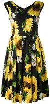Dolce & Gabbana sunflower print dress - women - Cotton - 38