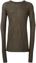 Haider Ackermann crew neck sweater - men - Nylon/Rayon/Wool/Virgin Wool - XXL