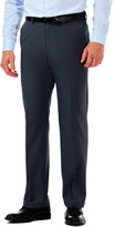 Haggar Cool 18 Pro Heather - Classic Fit, Flat Front, Hidden Expandable Waistband