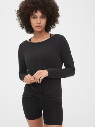 Gap Gapfit Knot-Front Long Sleeve T-Shirt