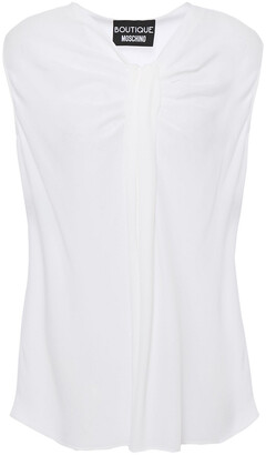 Boutique Moschino Gathered Crepe De Chine Top