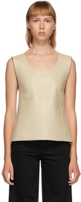 Totême Beige Leather Bergara Tank Top