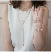 Kendra Scott Abigail Rose Gold Hand Chain in Iridescent Drusy