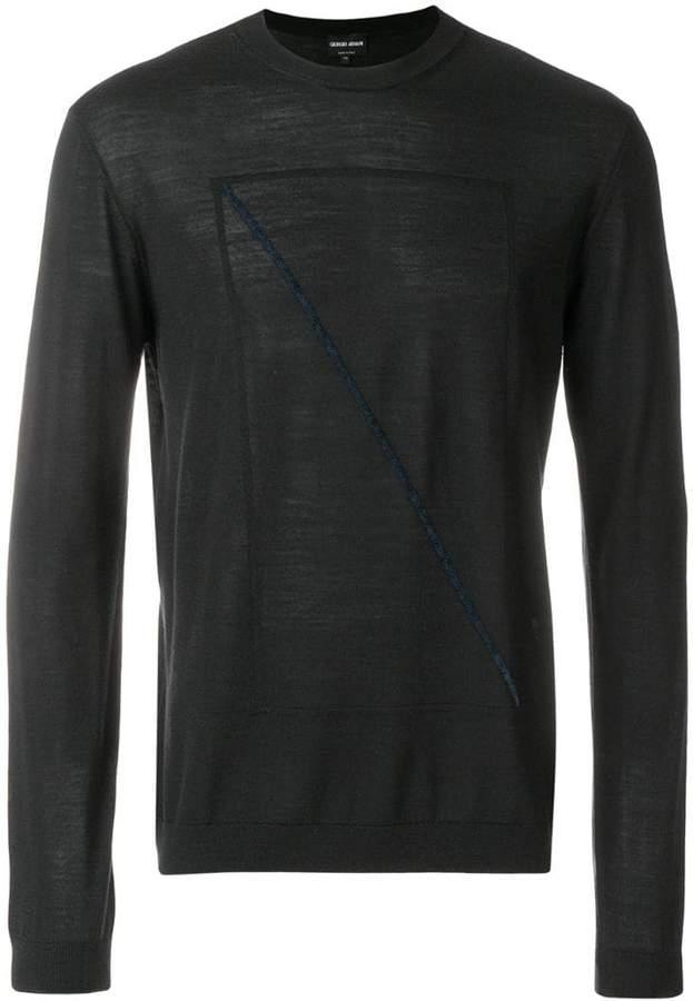 Giorgio Armani front prined longsleeved sweater