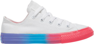 Converse Ox Basketball Shoes - White / Racer Pink Black