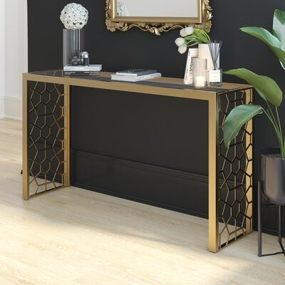 Thumbnail for your product : CosmoLiving by Cosmopolitan Juliette Glass Top Console Table