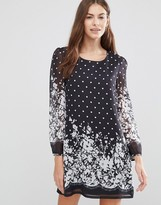 Yumi Border Polka Dot Tunic Dress