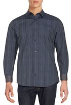 Calvin Klein Long Sleeve Infinite Cool Plaid Button-Down Shirt