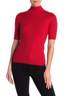 525 America Mock Neck Rib Knit Shirt