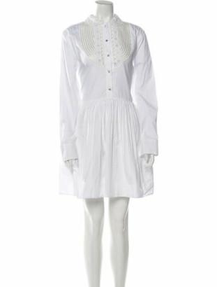 Miu Miu Mock Neck Mini Dress White