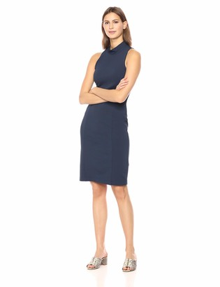 Lark & Ro Women's Sleeveless Halter Neck Long Sheath Dress