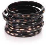 Nest Spotted Horn Five-Bangle Bracelet Set