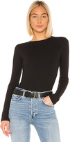 RE/DONE Ribbed Long Sleeve Bodysuit