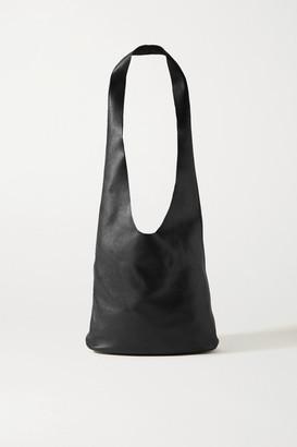 The Row Bucket Hobo Leather Shoulder Bag - Black