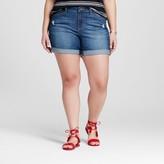Earl Jean Women's Plus Size Cuffed Short Blue