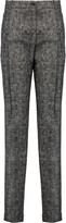Michael Kors Checked wool straight-leg pants