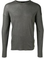 Jil Sander longsleeved T-shirt - men - Silk - 46