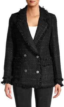 DOLCE CABO Double-Breasted Tweed Jacket