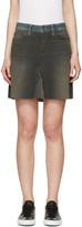 6397 Black and Blue Denim Contrast Miniskirt