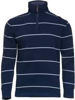 Men's Raging Bull Big & Tall Stripe Jersey Quarter Zip Sweater