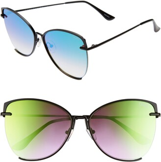 Quay 56mm Dusk To Dawn Mirrored Sunglasses