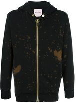Palm Angels bleached zip hoodie - men - Cotton - XS