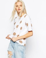 Asos Oversized T-Shirt With Polka Dot