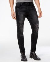 True Religion Men's Ankle-Zip Ripped Skinny Stretch Jeans