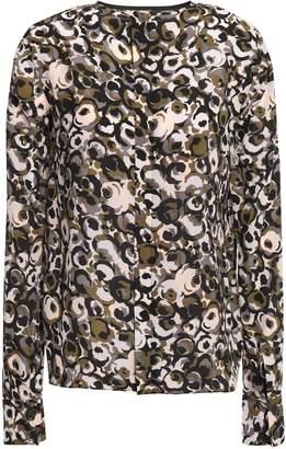 Marni Printed Silk-crepe Blouse