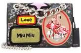 Miu Miu Jacquard bag with appliqué