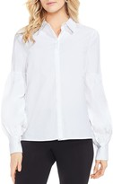 Vince Camuto Puff Sleeve Button Down Shirt