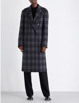 Joseph Osborne checked wool-blend coat