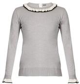 ADAM by Adam Lippes Ruffle-trimmed wool sweater