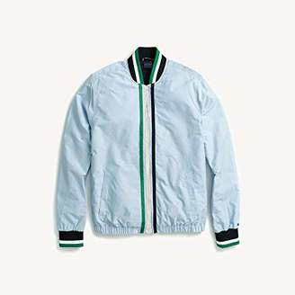 Tommy Hilfiger Men's Adaptive Tennis Bomber Jacket with Magnetic Zipper