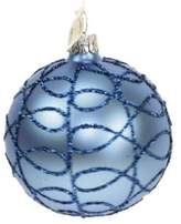 Briefing Cobweb Glitter Glass Ball Ornament